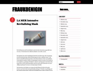 fraukoenigin.wordpress.com screenshot