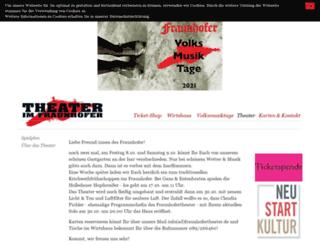 fraunhofertheater.de screenshot