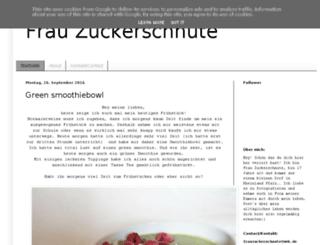 frauzuckerschnute.blogspot.de screenshot
