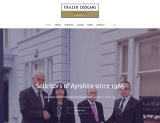frazercoogans.co.uk screenshot