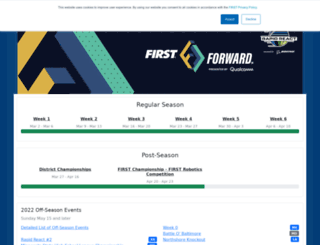 frc-events.firstinspires.org screenshot