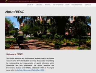 freac.fsu.edu screenshot