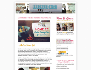 frecklednest.blogspot.com screenshot