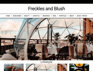 frecklesandblush.com screenshot