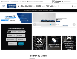 fredbeanshyundai.com screenshot