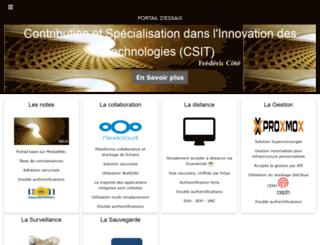 fredericcote.com screenshot