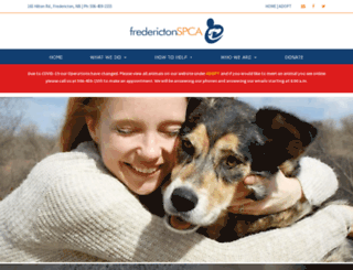 frederictonspca.ca screenshot