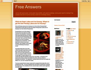 free-answers.blogspot.com screenshot