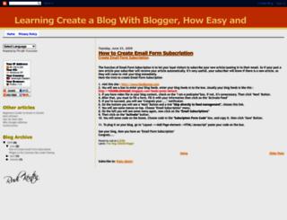 free-blog-blogger.blogspot.com screenshot