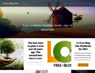 free-blog-site.com screenshot