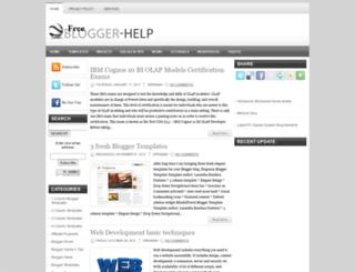 free-blogger-help.blogspot.com screenshot