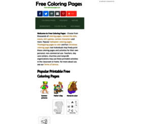 free-coloring-pages.com screenshot