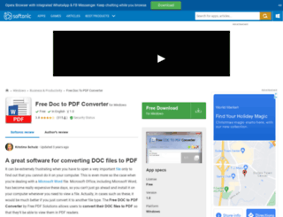 free-doc-to-pdf-converter.en.softonic.com screenshot