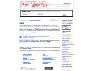 free-genealogy.co.uk screenshot