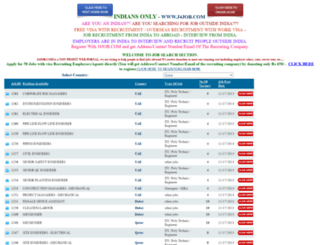 free-gulf-recruitment-from-india-kerala-with-visa.j4job.com screenshot