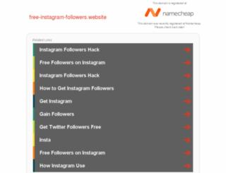 free-instagram-followers.website screenshot