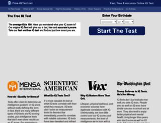 free-iqtest.net screenshot