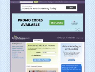 free-knitpatterns.com screenshot
