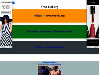 free-list.org screenshot