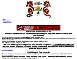 free-mah-jong.com screenshot