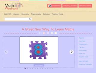 free-math-help.mathwarehouse.com screenshot