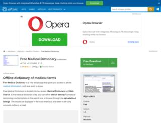 free-medical-dictionary.en.softonic.com screenshot