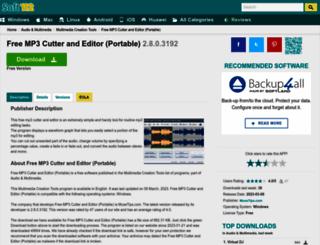 free-mp3-cutter-and-editor-portable.soft112.com screenshot