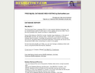 free-mysql.bizhostnet.com screenshot