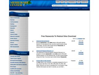 free-passwords-to-medical-sites.sharewarecentral.com screenshot