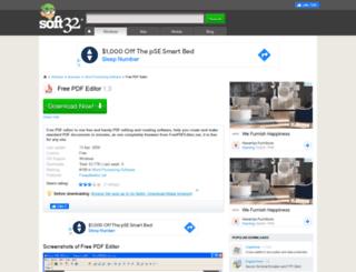 free-pdf-editor.soft32.com screenshot
