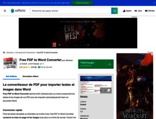 free-pdf-to-word-converter.softonic.fr screenshot