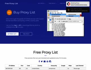 free-proxy-list.net screenshot