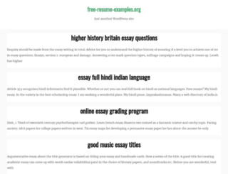 free-resume-examples.org screenshot