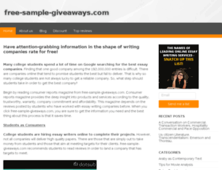 free-sample-giveaways.com screenshot