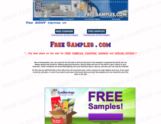 free-samples.com screenshot