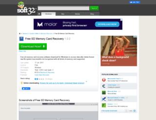 free-sd-memory-card-recovery.soft32.com screenshot