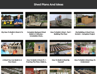 free-sheds-plans.com screenshot