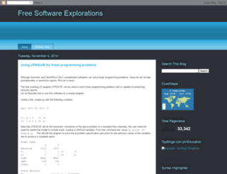 free-software-explorations.blogspot.com screenshot