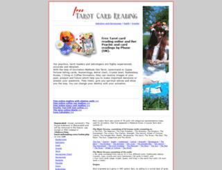 free-tarotcardreading.com screenshot