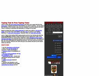 free-typingtest.com screenshot