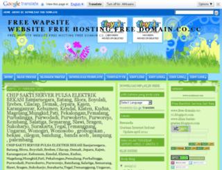 free-wapsite.blogspot.com screenshot