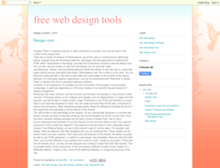free-web-design-tools.blogspot.com screenshot