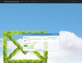 free-webmail24.de screenshot