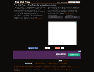 free-webproxy.in screenshot