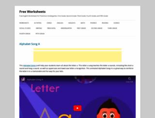 free-worksheets.com screenshot
