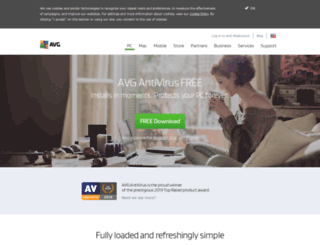 free.avg.com screenshot
