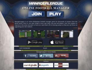 free.managerleague.com screenshot