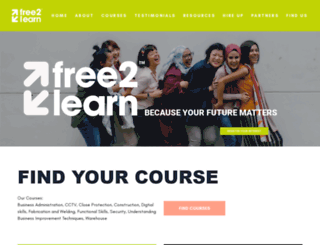 free2learn.org.uk screenshot