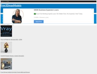 free3dmaxmodels.com screenshot