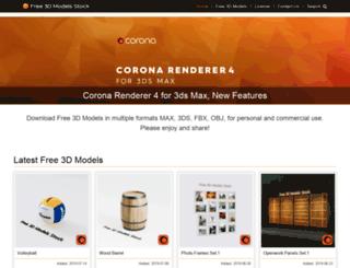 free3dmodelsstock.com screenshot